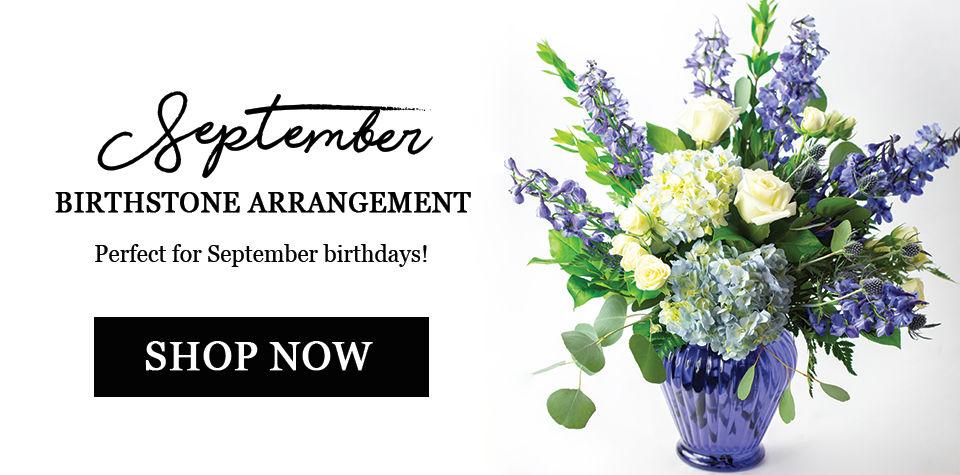 September birthstone arrangement